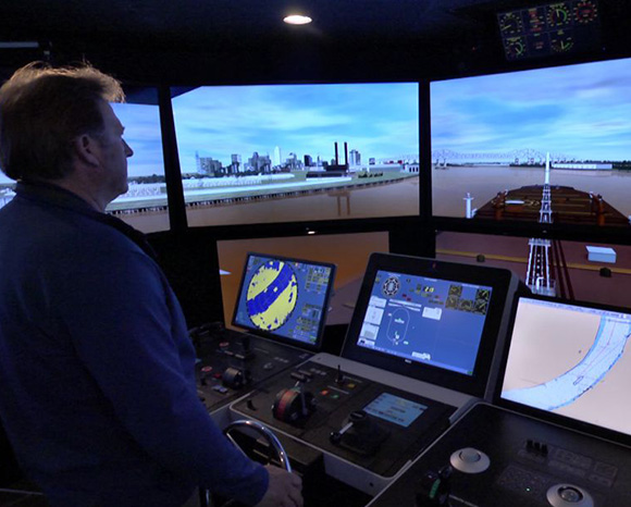 LED Simulation Training of flying