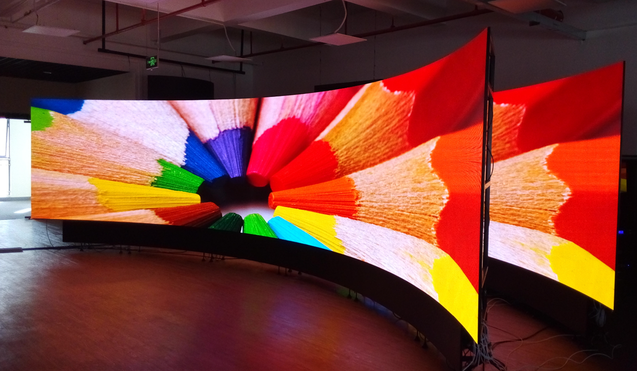 Flexible LED video wall