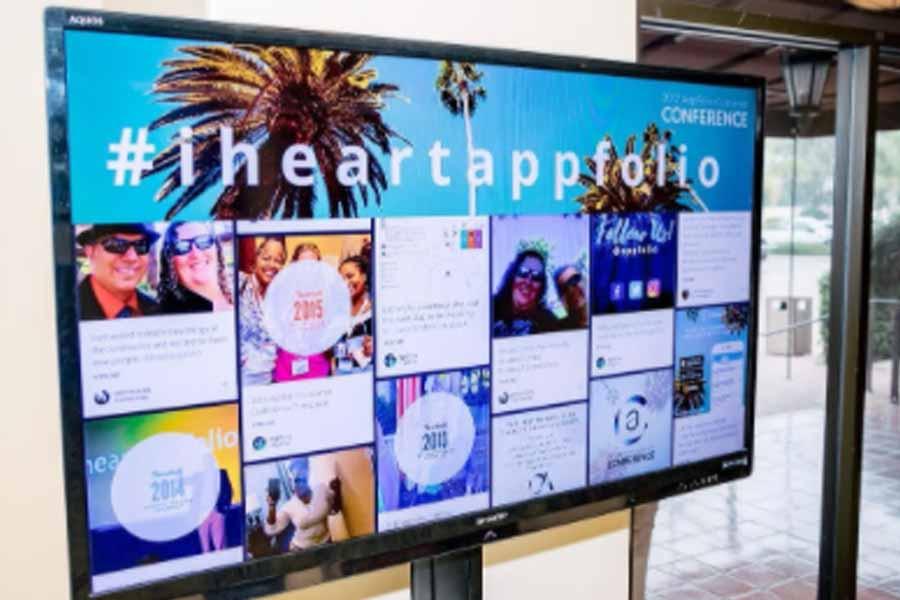 Social Media Walls as Ads