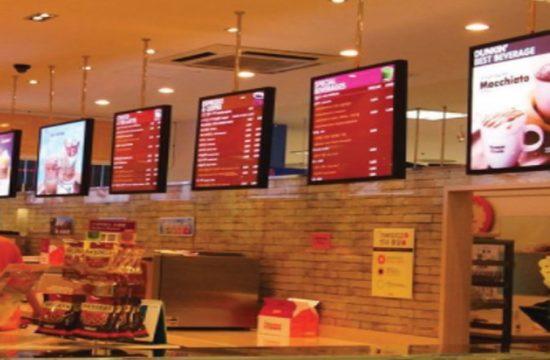 Restaurant Menus on LED Display